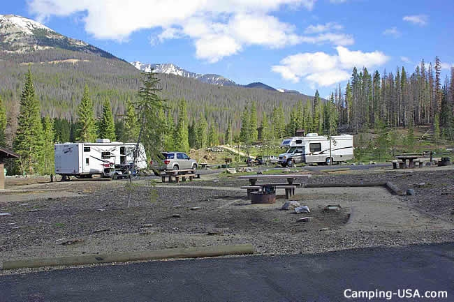 Timber Creek Campground at Rocky Mountain National Park